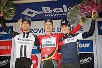 final overall podium:<br /> 1/ Tony Martin (DEU/OPQS)<br /> 2/ Tom Dumoulin (NLD/Giant-Shimano)<br /> 3/ Sylvain Chavanel (FRA/IAM)<br /> <br /> 2014 Belgium Tour<br /> (final) stage 5: Oreye - Oreye (179km)