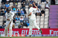 Kyle Jamieson, New Zealand celebrates the wicket of Ishant Sharma during India vs New Zealand, ICC World Test Championship Final Cricket at The Hampshire Bowl on 20th June 2021