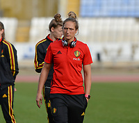 20180305 - LARNACA , CYPRUS :  Belgian Maud Coutereels pictured during a women's soccer game between  the Belgian Red Flames  and Austria , on Monday 5 March 2018 at the GSZ Stadium in Larnaca , Cyprus . This is the third game in group B for Belgium during the Cyprus Womens Cup , a prestigious women soccer tournament as a preparation on the World Cup 2019 qualification duels. PHOTO SPORTPIX.BE | DAVID CATRY
