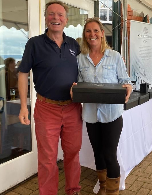 RUYC Keelboat Weekend  Lucy Smith (Game Changer) with RUYC Rear Commodore Johnny Ritchie