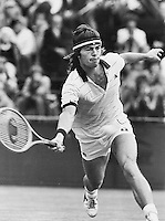 Chris Lewis in the semmifinal at Wimbledon 1989
