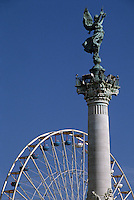 Europe/France/Aquitaine/33/Gironde/Bordeaux: Place des Quinconces, Le monument des girondins - La statue Liberté