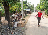 Street life in the town of Mrauk-U and surrounding areas, Rakhine State, Myanmar, Burma