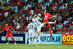 Federico Fazio of Argentina (L) trips up with Safuwan Baharudin of Singapure (R) during the International Test match between Argentina and Singapore at National Stadium on June 13, 2017 in Singapore. Photo by Marcio Rodrigo Machado / Power Sport Images