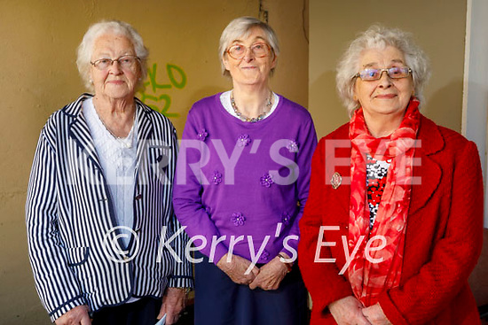 Triple delight for three sisters who received their second vaccine at Dr O'Briens surgery in the Moyderwell Clinic on Friday. L to r; Eileen Savage (90) and Bridget Boyle (91) from Derrymore and Mary Howard (93) from Leith.