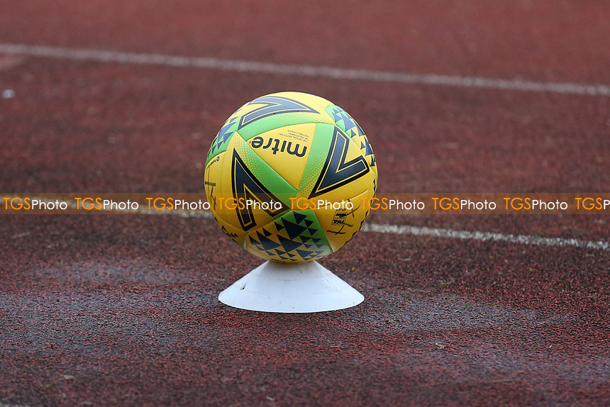 Covid secure match ball during Hornchurch vs Maidstone United, Buildbase FA Trophy Football at Hornchurch Stadium on 6th February 2021