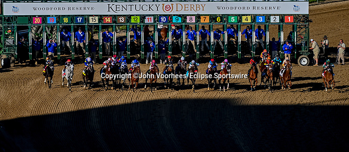 May 1, 2021 : Medina Spirit, #8, ridden by jockey John Velazquez, wins the 147th running of the Kentucky Derby on Kentucky Derby Day at Churchill Downs on May 1, 2021 in Louisville, Kentucky. John Voorhees/Eclipse Sportswire/CSM