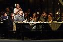 "London, UK. 24.11.2018. English National Opera present their fourth revival of Jonathan Miller's production of Puccini's ""La Boheme"", in which Natalya Romaniw makes her ENO debut. Cast is: Natalya Romaniw (Mimi), Jonathan Tetelman (Rodolfo), Nicholas Lester (Marcello), Simon Butteriss (Benoit/Alcindoro), Nadine Benjamin (Musetta), David Soar (Colline), Bozidar Smiljanic (Schaunard). Picture shows: Nadine Benjamin (Musetta), Nicholas Lester (Marcello), Jonathan Tetelman (Rodolfo), Natalya Romaniw (Mimi). Photograph © Jane Hobson."