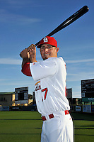 Mar 01, 2010; Jupiter, FL, USA; St. Louis Cardinals  infielder Tyler Greene (27) during  photoday at Roger Dean Stadium. Mandatory Credit: Tomasso De Rosa/ Four Seam Images