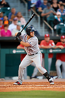 Syracuse Chiefs third baseman Jacob Wilson (19) bats during a game against the Buffalo Bisons on July 6, 2018 at Coca-Cola Field in Buffalo, New York.  Buffalo defeated Syracuse 6-4.  (Mike Janes/Four Seam Images)