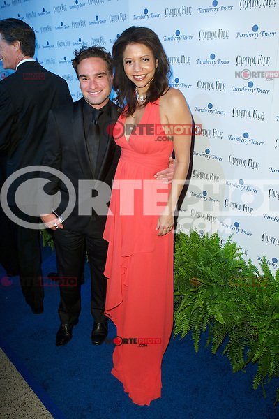 WASHINGTON, DC - APRIL 28:  Johnny Galecki and Gloria Reuben attends Capital File magazine's WHCAD After - Party hosted by Claire Danes at The Newseum in Washington, D.C  on April 28th, 2012  ( Photo by Chaz Niell/Media Punch Inc.)