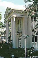 Louisiana:  Estate house with columns extending 2 stories, Balcony above entrance.  Photo '77.