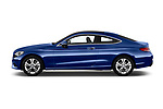 Car Driver side profile view of a 2018 Mercedes Benz C-Class C300 2 Door Coupe Side View