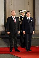 Giuseppe Conte and Barham Salih<br /> Rome January 24th 2020. Palazzo Chigi. The Italian Premier meets the President of the Republic of Iraq.<br /> Foto Samantha Zucchi Insidefoto