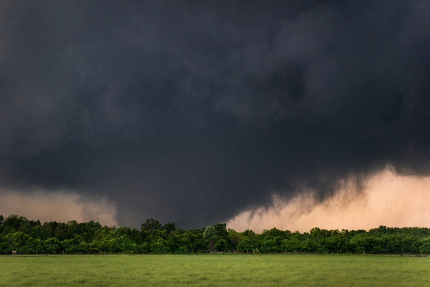 Large EF-5 tornado approaching Orr Family farm on west side of Moore Oklahoma on May 20th, 2013. This storm resulted in the deaths of 24 people with damage estimated to be near two billion dollars.