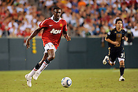 Danny Welbeck (19) of Manchester United. Manchester United (EPL) defeated the Philadelphia Union (MLS) 1-0 during an international friendly at Lincoln Financial Field in Philadelphia, PA, on July 21, 2010.