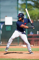 Cleveland Indians Hosea Nelson (16) during an Instructional League game against the Kansas City Royals on October 11, 2016 at the Cleveland Indians Player Development Complex in Goodyear, Arizona.  (Mike Janes/Four Seam Images)