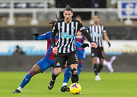 2nd February 2021; St James Park, Newcastle, Tyne and Wear, England; English Premier League Football, Newcastle United versus Crystal Palace; Fabian Schar of Newcastle United holds off the challenge