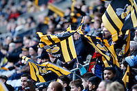 Photo: Richard Lane/Richard Lane Photography. Wasps v Ospreys. Anglo-Welsh Cup. 05/02/2017. Wasps flags.