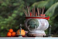 Incense Pot, Mah Choi Nui Nui Temple, Christmas Island, Indian Ocean