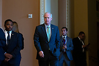 United States Senator Ron Johnson (Republican of Wisconsin) departs Republican Senate luncheons on Capitol Hill in Washington D.C., U.S., on Tuesday, November 5, 2019.<br />  <br /> Credit: Stefani Reynolds / CNP /MediaPunch