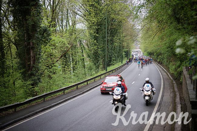 the actual race start at km 0<br /> <br /> 101th Liège-Bastogne-Liège 2015