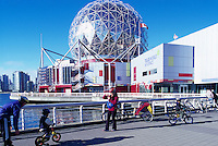 Vancouver, BC, British Columbia, Canada - Telus World of Science (aka Science World) at False Creek - Renovation completed in 2012
