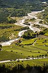 Switzerland, Canton Valais, wine village Varen near Leuk: winegrowing at Rhône-Valley | Schweiz, Kanton Wallis, Weindorf Varen bei Leuk: Weinanbau im Rhonetal