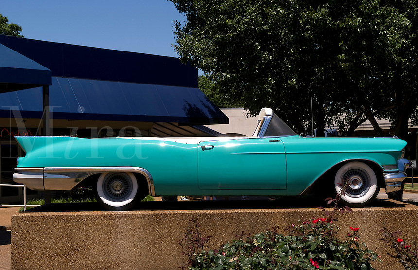 Famous Cadillac of the King, Elvis Presley at Graceland, Memphis, Tennessee