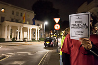 """17.10.2017 - """"Free Political Prisoners"""" - Catalan Protest Outside Spanish Embassy in London"""