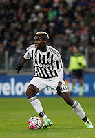 Calcio, Serie A: Juventus vs Inter. Torino, Juventus Stadium, 28 February 2016.<br /> Juventus' Paul Pogba in action during the Italian Serie A football match between Juventus and Inter at Turin's Juventus Stadium, 28 February 2016.<br /> UPDATE IMAGES PRESS/Isabella Bonotto