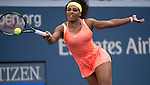 Serena Williams (USA) defeats Madison Keys (USA) 6-3, 6-3 at the US Open in Flushing, NY on September 6, 2015.