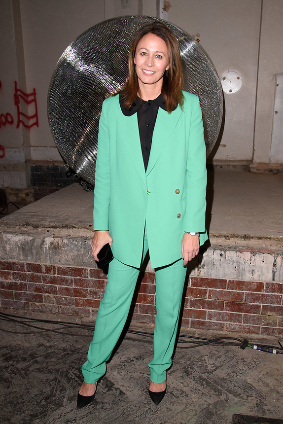 Caroline Rush<br /> front row at the Nicopanda London Fashion Week SS18 catwalk show, London<br /> <br /> ©Ash Knotek  D3431  14/09/2018