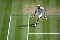 11th July 2021, Wimbledon SW London England, AELTC Wimbledon Tennis Championships, mens final, Novak Djokovic (Ser)  versus Matteo Berrettini (Ita); Matteo Berrettini (Ita)