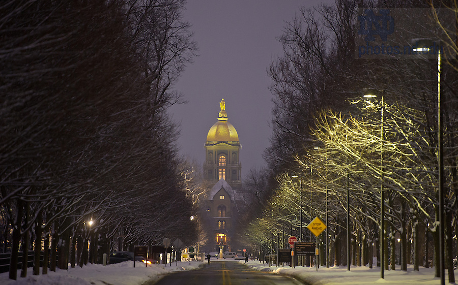 Feb. 5, 2013; ND Avenue..Photo by Matt Cashore/University of Notre Dame
