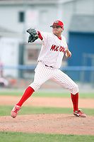 July 9th, 2007:  Ryan Riddle of the Batavia Muckdogs, Short-Season Class-A affiliate of the St. Louis Cardinals at Dwyer Stadium in Batavia, NY.  Photo by:  Mike Janes/Four Seam Images