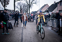 Wout van Aert (BEL/Jumbo - Visma) after finishing his first race back after his severe crash in the 2019 Tour de France and finishing a strong 5th.<br /> <br /> Azencross Loenhout 2019 (BEL)<br />  <br /> ©kramon