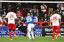 Mark Gillespie of Carlisle is beaten by Greg Tansey of Stevenage's penalty<br />  - Stevenage v Carlisle Untied - Sky Bet League 1 - Lamex Stadium, Stevenage - 21st September, 2013<br />  © Kevin Coleman 2013