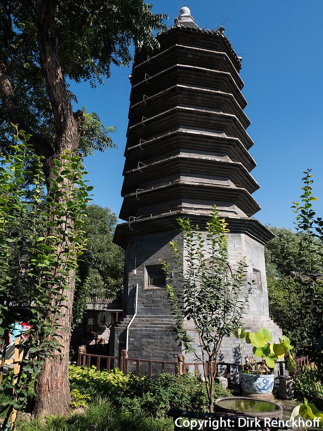 WanSong Laoren Ta Pagode, Peking, China, Asien<br /> WangSong Laoren Ta Pagoda, Beijing, China, Asia