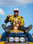 funny car, Camry, J.R. Todd, DHL, victory, celebration, trophy