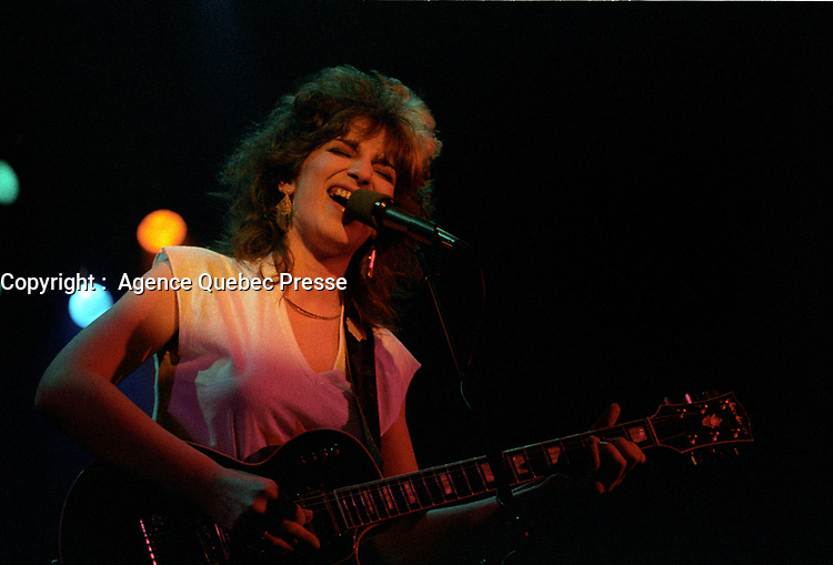 CHANTALE PARIS,<br /> Juin  1983,<br /> Montreal, CANADA<br /> <br /> PHOTO :  Agence Quebec Presse