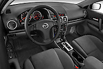 High angle dashboard view of a 2008 Mazda 6 Sport Sedan