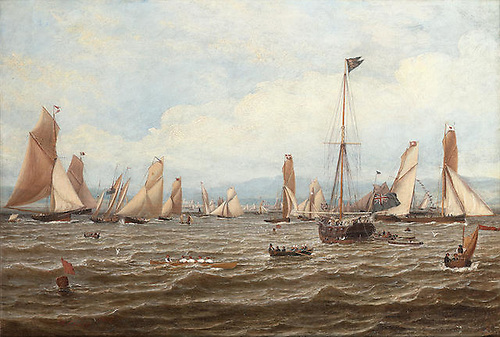 The Royal Northern Yacht Club regatta in the Clyde in 1835 indicated how strongly the Scottish branch was setting the pace in the club