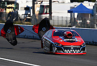 Aug. 1, 2014; Kent, WA, USA; NHRA pro stock driver V. Gaines during qualifying for the Northwest Nationals at Pacific Raceways. Mandatory Credit: Mark J. Rebilas-