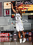 Alcorn State Lady Braves guard Carolinsia Crumbly (3) in action during the SWAC Tournament game between the Alcorn State Braves and the Grambling State Tigers at the Special Events Center in Garland, Texas. Grambling State defeats Alcorn State 72 to 63.