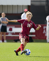 FSU midfielder Megan Ohai (19) dribbles the ball.  The University of Southern California defeated Florida State University 2-0 to win the 2007 women's NCAA College Cup in College Station, TX on December 9, 2007.