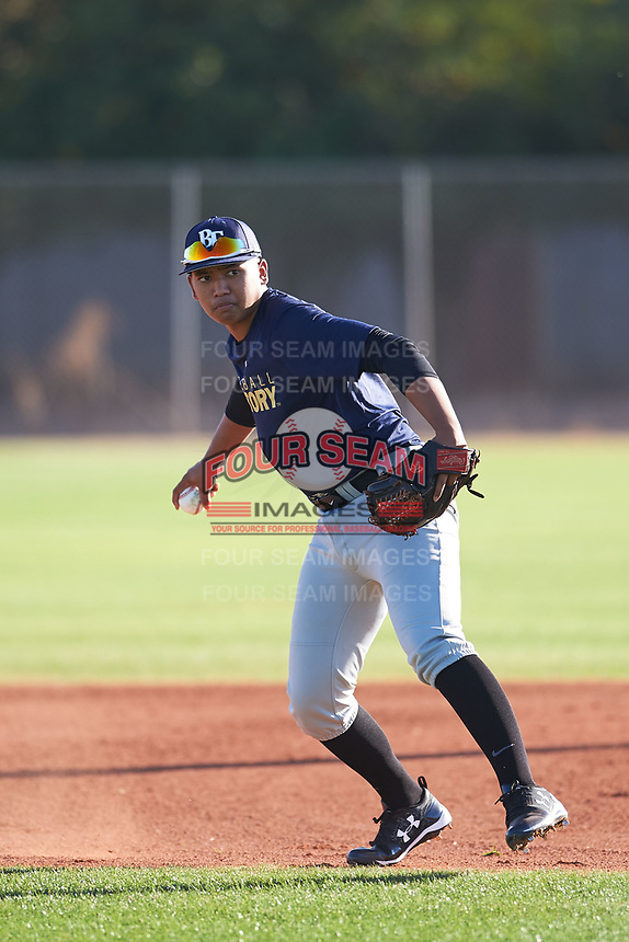 Kristian Cardejon (51), from Kekaha, Hawaii, while playing for the Padres during the Under Armour Baseball Factory Recruiting Classic at Gene Autry Park on December 27, 2017 in Mesa, Arizona. (Zachary Lucy/Four Seam Images)