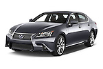 2014 Lexus GS 300H Hybrid F Sport Line 4 Door Sedan 2WD Angular Front stock photos of front three quarter view