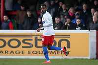 Myles Weston of Dagenham during Dagenham & Redbridge vs Stockport County, Vanarama National League Football at the Chigwell Construction Stadium on 8th February 2020