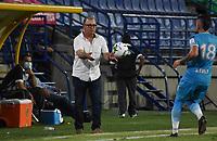 MONTERIA -COLOMBIA, 25-09-2020: Alberto Suarez director técnico de Jaguares de Córdoba.Jaguares de Córdoba  y La Equidad en partido por la fecha 10 de la Liga BetPlay DIMAYOR I 2020 jugado en el estadio Jaraguay Municipal de la ciudad de Montería. / Alberto Suarez coach of Jaguares of Cordoba.Jaguares of Cordoba and La Equidad in match for the date 10 BetPlay DIMAYOR League I 2020 played at Jaraguay Municipal stadium in Monteria city: VizzorImage/ Andrés Felipe López / Contribuidor